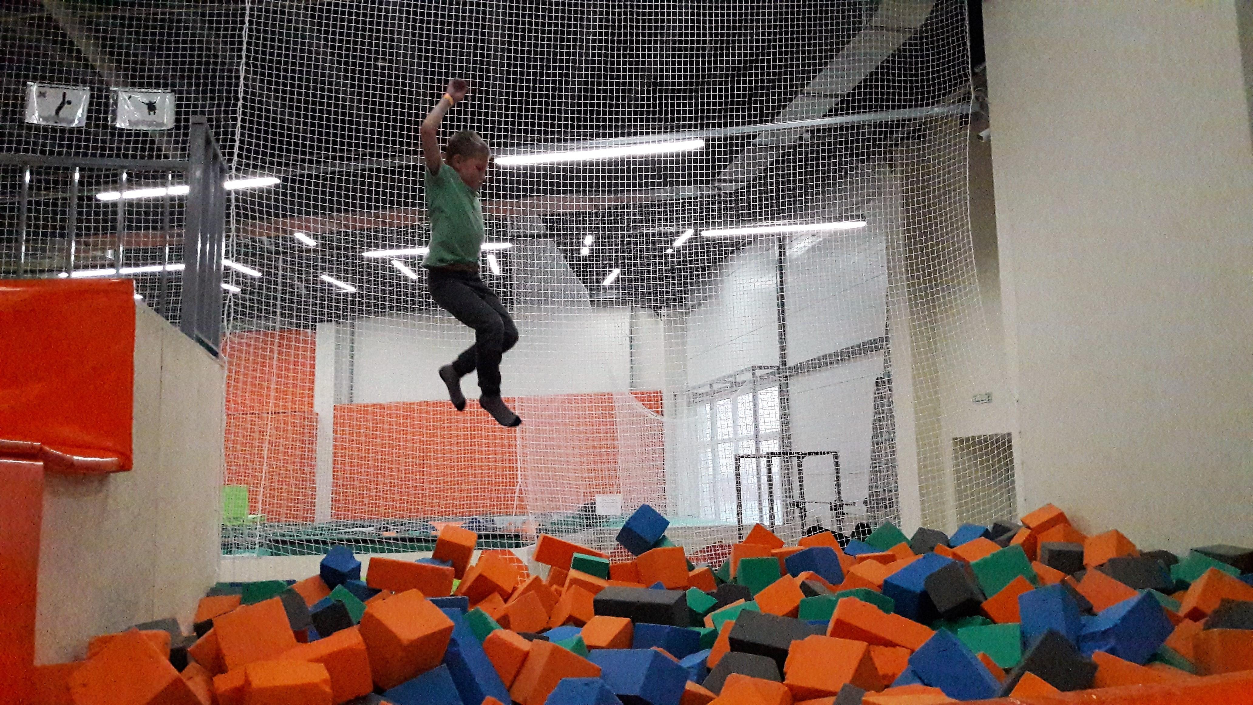 Прыжки в поролоновую яму